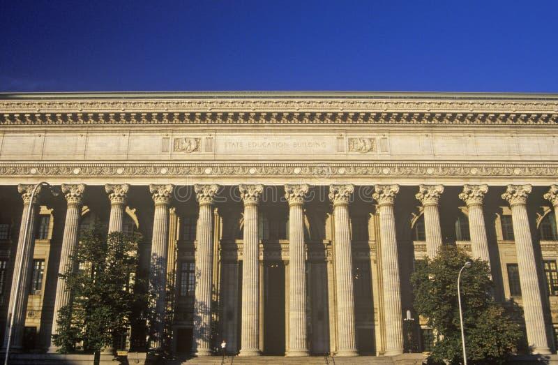 Construção da educação do estado em Albany, NY foto de stock royalty free