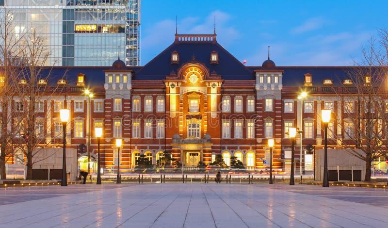 Construção da estação do Tóquio foto de stock