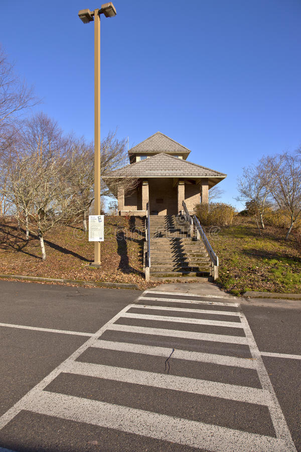 A construção da facilidade pública sacia o parque Oregon. imagens de stock