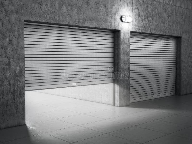 Construção da garagem feita do concreto imagens de stock