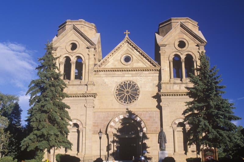 Construção da missão em Santa Fe New Mexico do centro fotos de stock royalty free