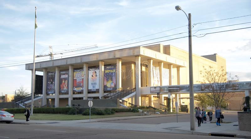A construção da orquestra sinfônica de Mississippi fotos de stock