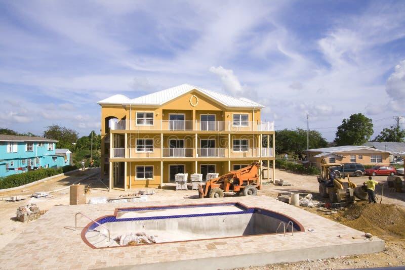 Construção da piscina fotografia de stock