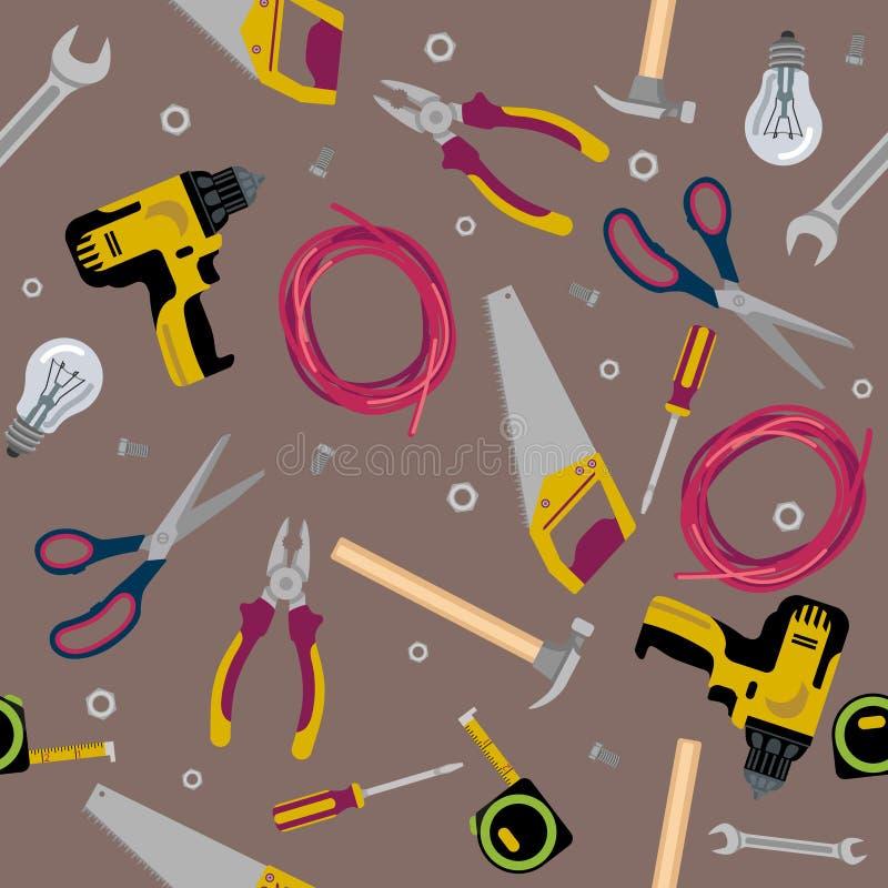 A construção da textura utiliza ferramentas a ilustração lisa ilustração stock