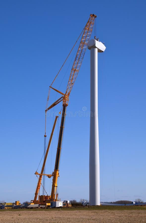 Construção da turbina eólica imagens de stock royalty free