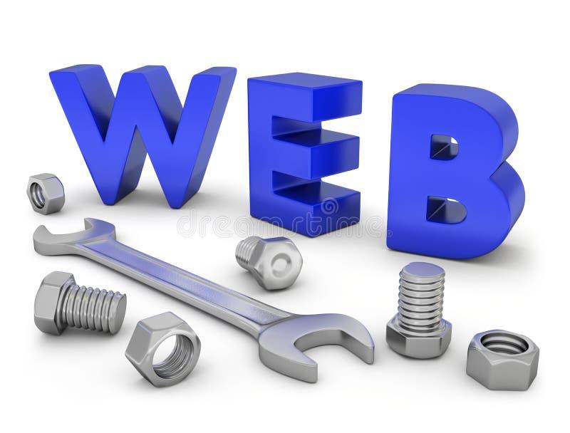 Construção da Web ilustração stock