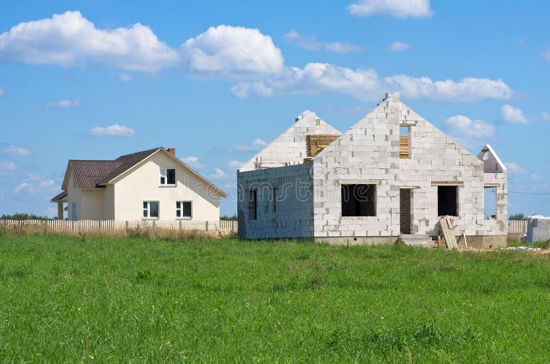Construção das casas fotos de stock