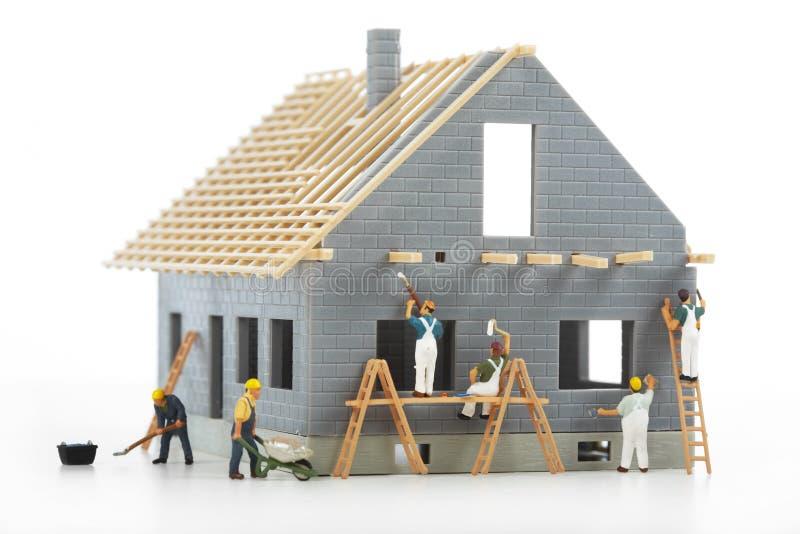 Construção das casas de campo imagens de stock royalty free
