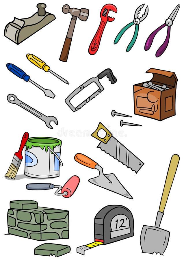 Construção das ferramentas ilustração stock