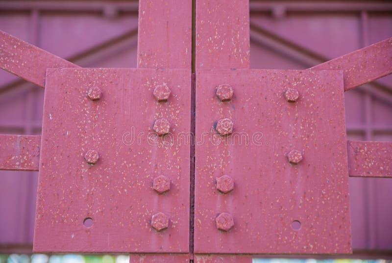 Construção de aço, a estrutura dos sinais de aço imagens de stock royalty free