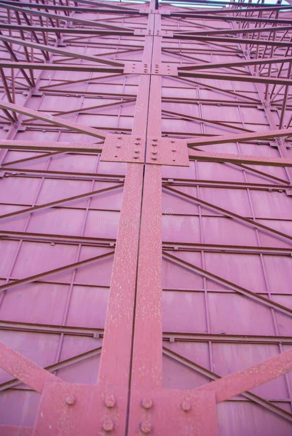 Construção de aço, a estrutura dos sinais de aço imagens de stock