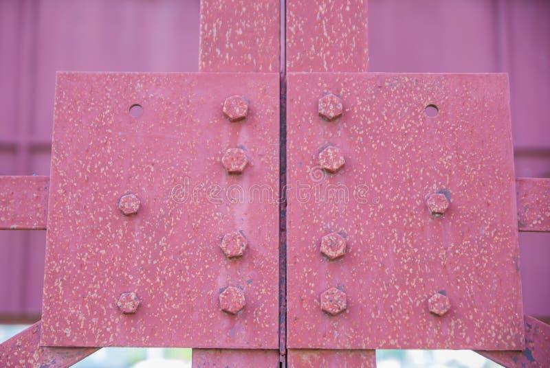 Construção de aço, a estrutura dos sinais de aço fotografia de stock royalty free