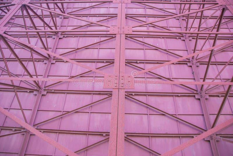 Construção de aço, a estrutura dos sinais de aço foto de stock royalty free