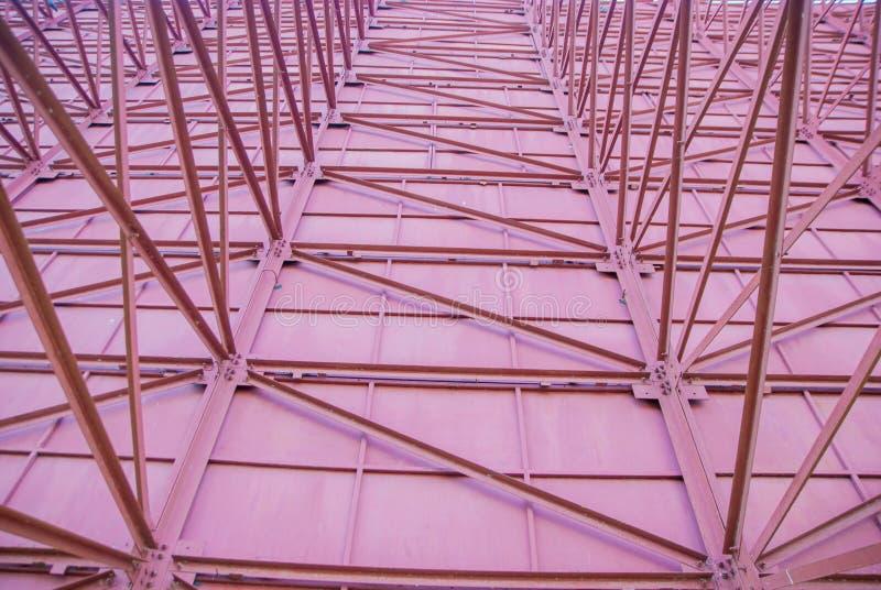 Construção de aço, a estrutura dos sinais de aço fotografia de stock