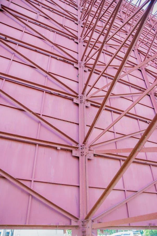 Construção de aço, a estrutura dos sinais de aço imagem de stock