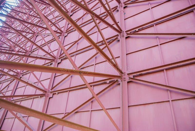 Construção de aço, a estrutura dos sinais de aço imagem de stock royalty free