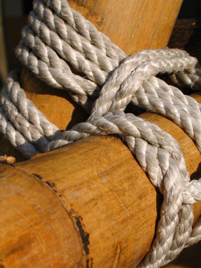 Construção de bambu fotografia de stock royalty free