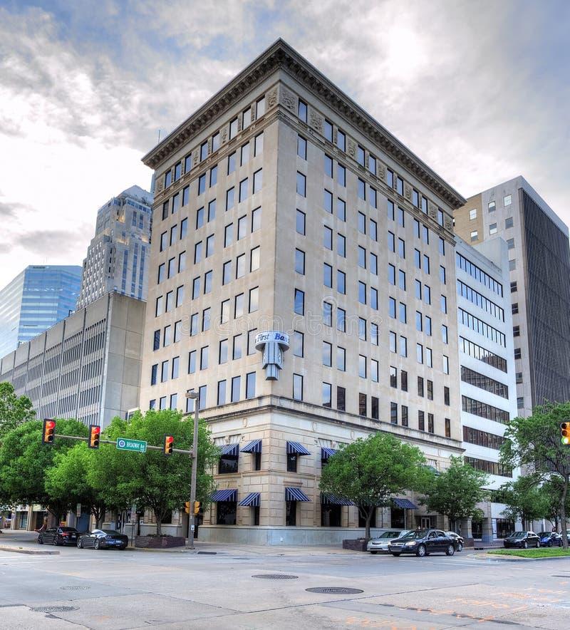 Construção de BancFirst no Oklahoma City do centro imagem de stock