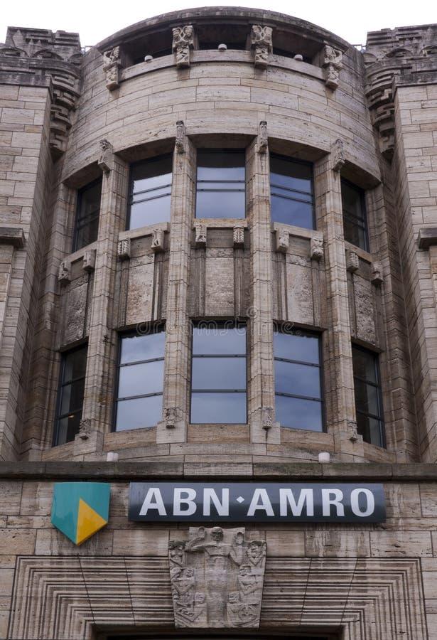 Construção de banco de Abn em Haia fotos de stock
