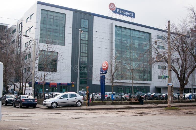 Construção de banco de Bancpost imagem de stock