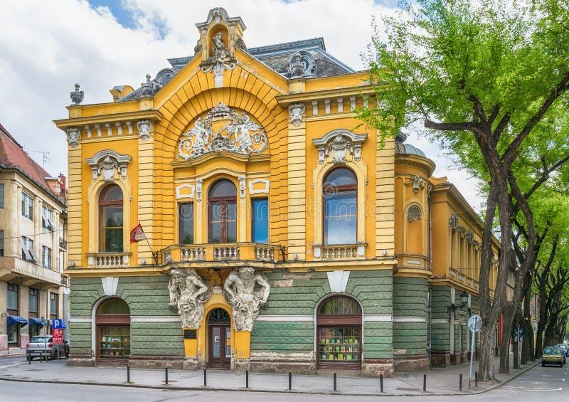 Construção de biblioteca da cidade na cidade de Subotica, Sérvia imagem de stock royalty free