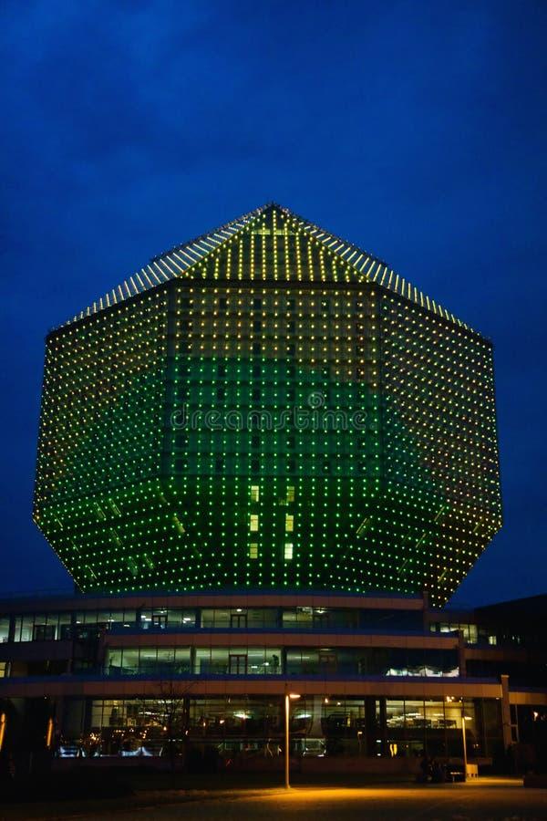 Construção de biblioteca moderna em Minsk, Bielorrússia foto de stock royalty free