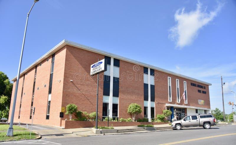 Construção de biblioteca pública do condado do meridiano-Lauderdale fotos de stock