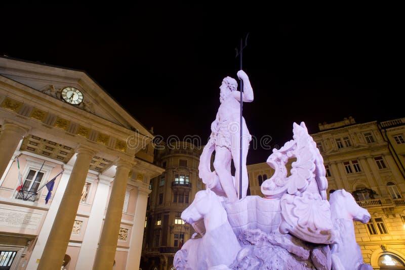 Construção de bolsa de valores, Trieste fotos de stock