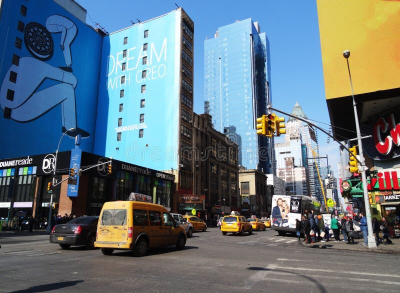 Construção de Broadway imagens de stock royalty free