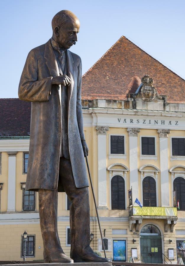 Construção de Burgtheater Varszinhaz em Budapest imagem de stock royalty free