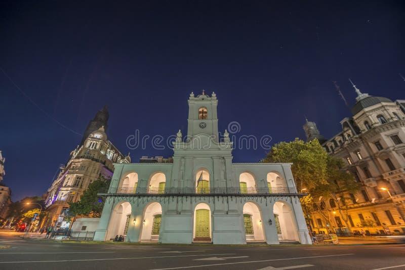 Construção de Cabildo em Buenos Aires, Argentina foto de stock