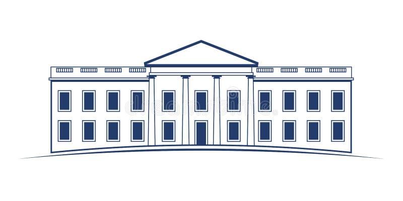 Construção de casa branca ilustração do vetor