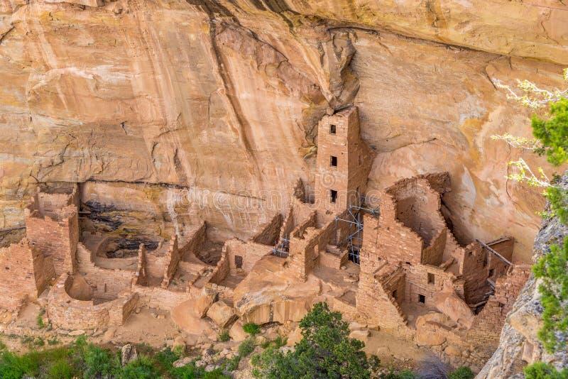 Construção de casa da torre em Mesa Verde N P foto de stock royalty free
