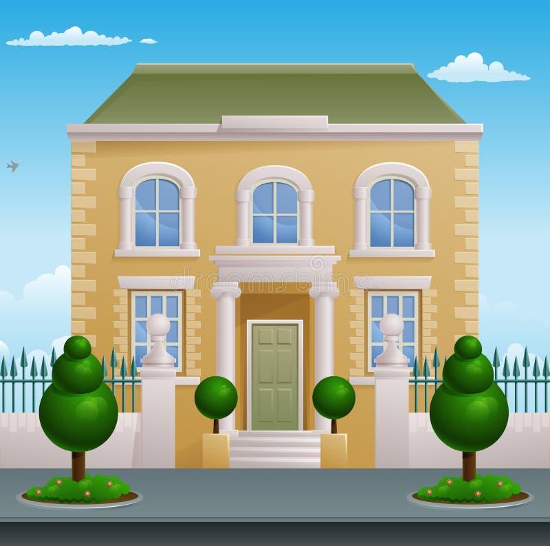 Construção de casa vitoriano Georgian ilustração royalty free