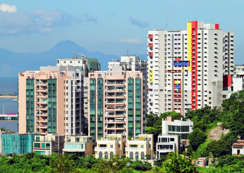Construção de casas de Macao fotografia de stock royalty free