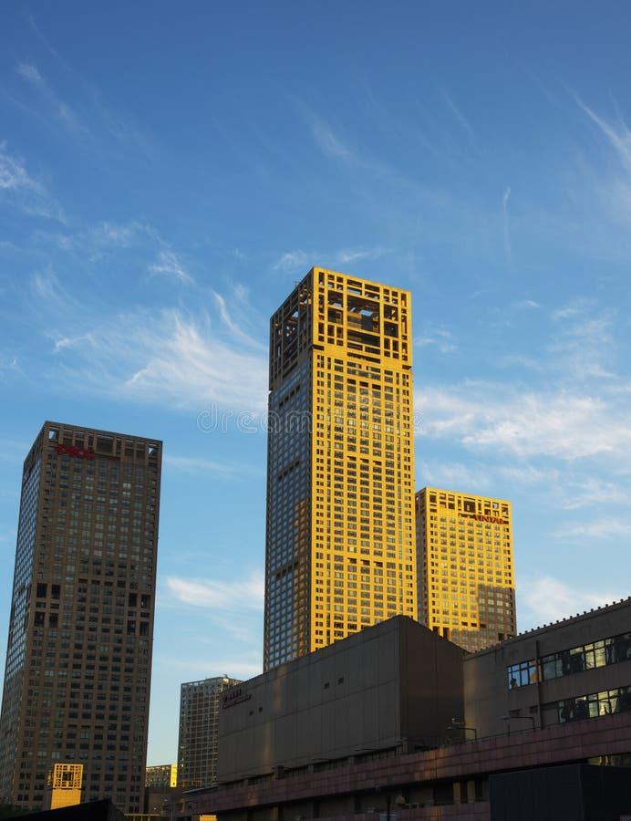 Construção de CBD no Pequim, China foto de stock