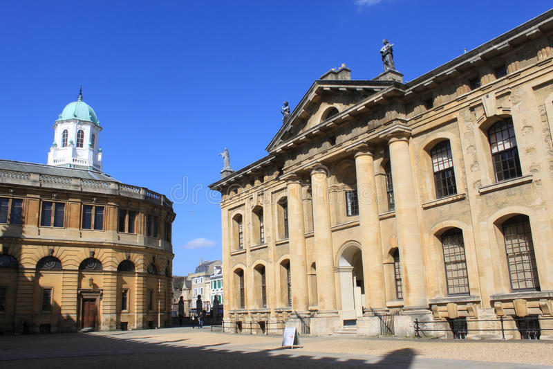 Construção de Clarendon e teatro de Sheldonian, Oxford fotografia de stock