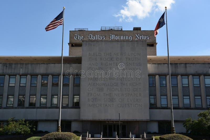 A construção de Dallas Morning News em Texas imagem de stock royalty free