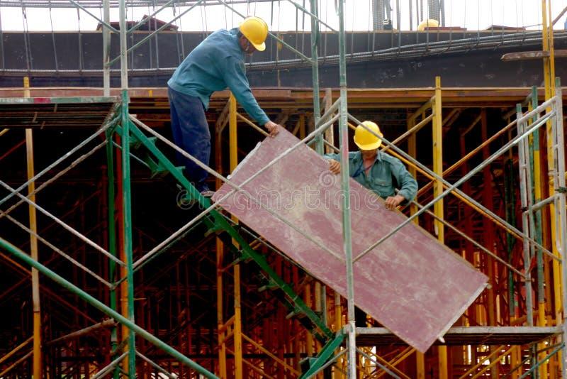 Construção de edifício fotografia de stock