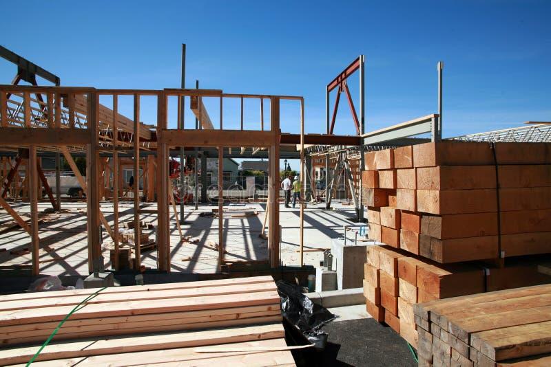 Construção de edifício Home e conceitos do edifício foto de stock