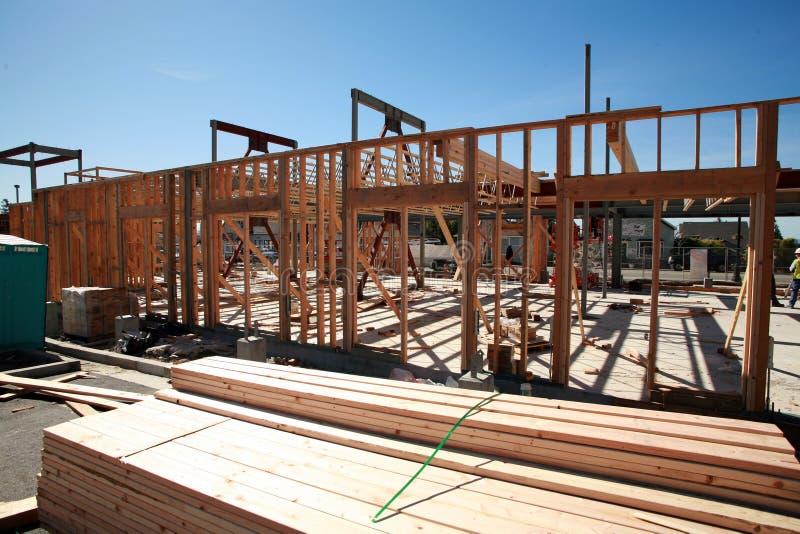 Construção de edifício Home e conceitos do edifício imagens de stock