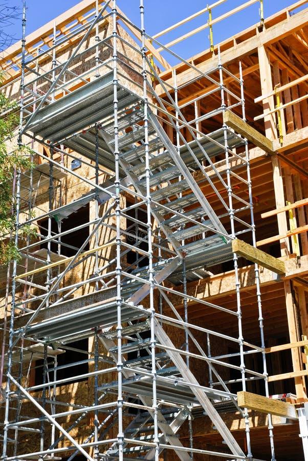 Construção de edifício moderna fotos de stock
