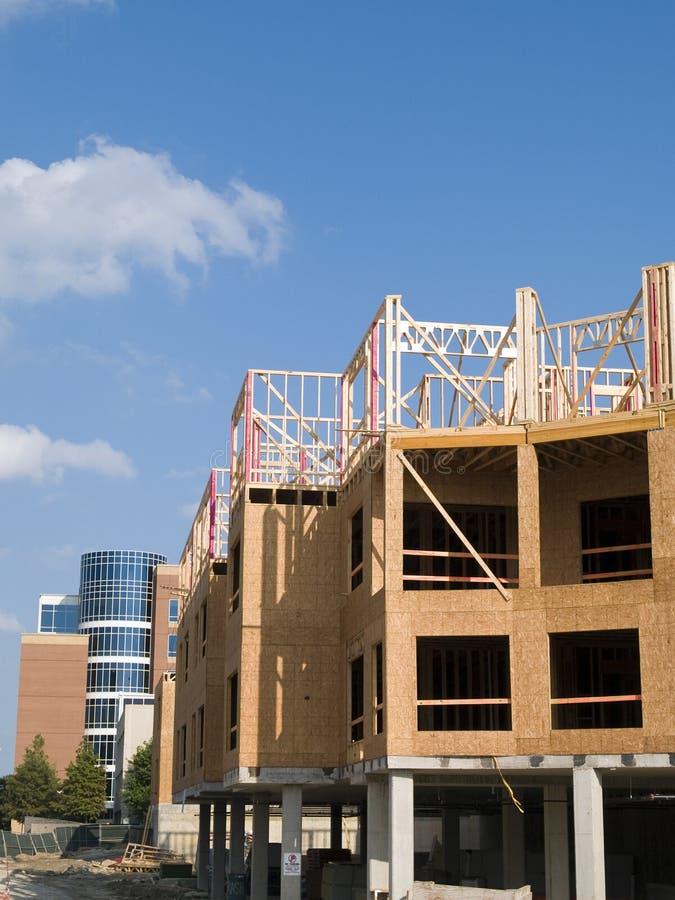 Construção de edifício urbana fotografia de stock