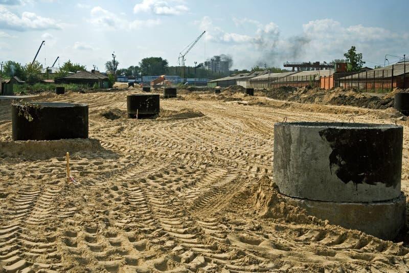 Construção de estradas. imagens de stock