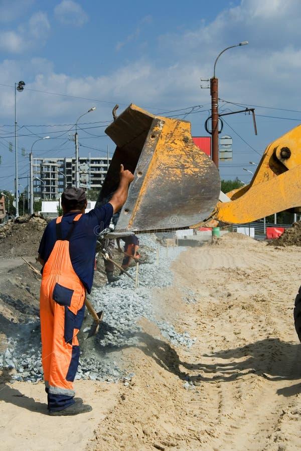 Construção de estradas. foto de stock royalty free