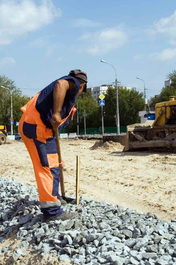 Construção de estradas. foto de stock