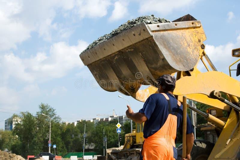 Construção de estradas. fotografia de stock royalty free