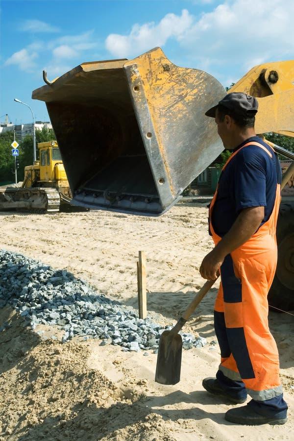 Construção de estradas. imagens de stock royalty free
