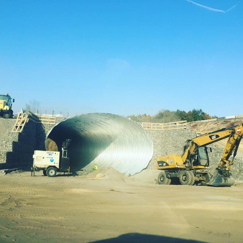 Construção de estradas Sob a construção fotografia de stock royalty free