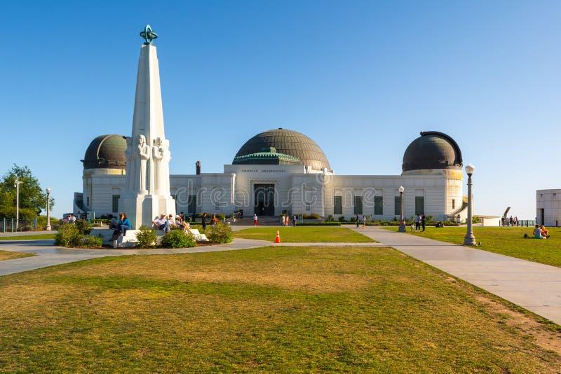 Construção de Griffith Observatory foto de stock royalty free